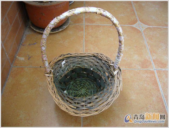 彩带编织花篮图解教程