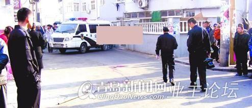 青岛市阜新路发生命案 死者被铁锹拍倒再遭刀