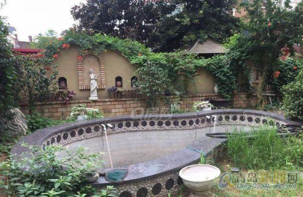 欧式独栋别墅,水系庭院