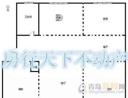 11米x8米房屋平顶带车库设计图