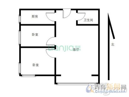 卓越蔚蓝群岛二手房,城阳 2室2厅1卫 88平米 总价:115