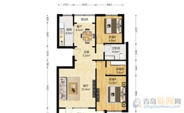110平方两室房屋设计图