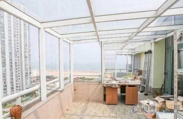 蔚蓝海岸顶复式带阳光房每个卧室都看沙滩海景堪比空中别墅,青岛崂山