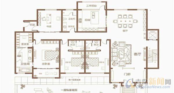 青建悦廷别墅 260平米 带花园 地下室 1100万 新房,青岛崂山姜哥庄青