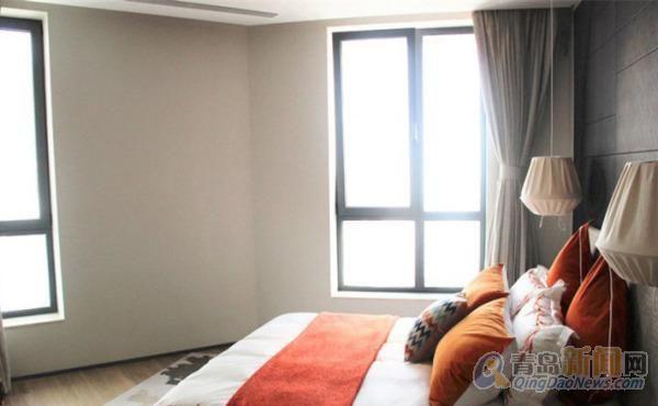 公寓 地暖空调 俯看浮山湾 五四广场 拎包入住,青岛市南东海路海逸