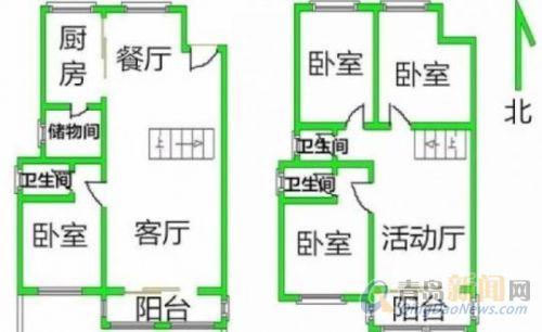 新上 海风花园 复式一楼带大院 位置佳 双南双北卧四居 急售图片