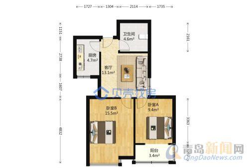 福安小区二手房,市北 2 77平米 总价:170万元-青岛网