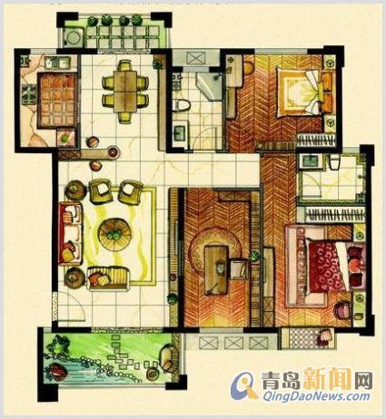 20平方米住宅装修招标书2号 预算半包5 7万 青岛新闻网家居装修招标