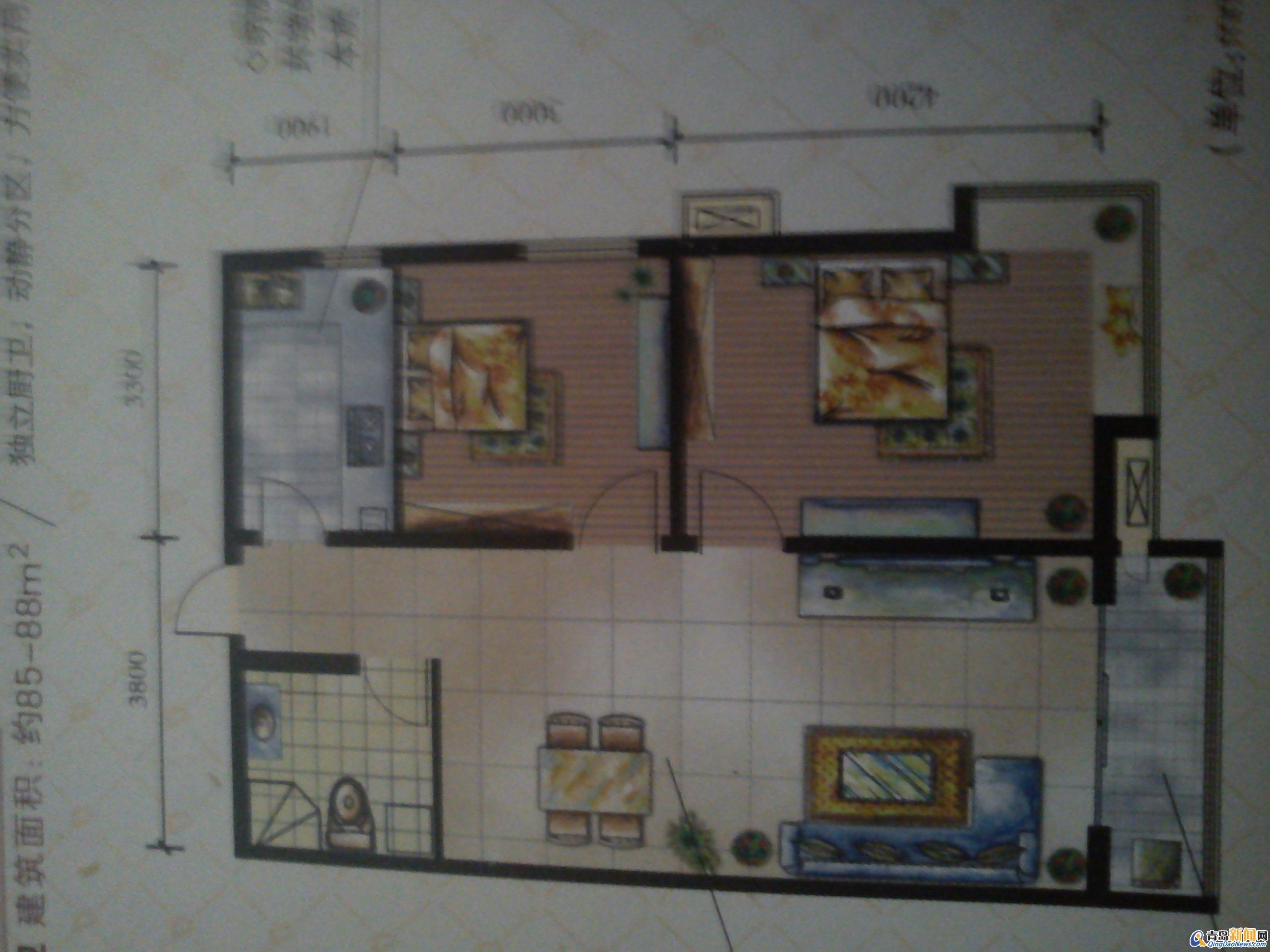 88平方米住宅装修招标书147号 预算半包1 3万 青岛新闻网家居装修高清图片
