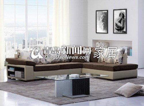 顾家家居布艺沙发皮布沙发简约现代客厅沙发组合图片