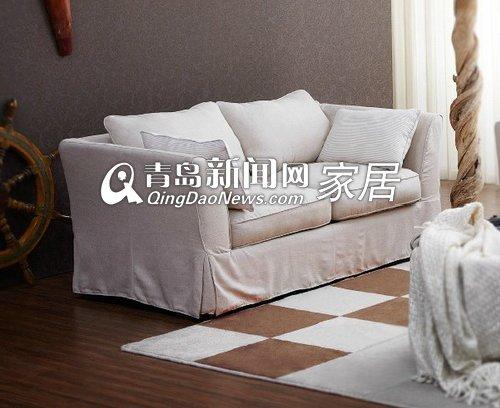 顾家家居全布艺田园棉语家具组合2人沙发2300图片