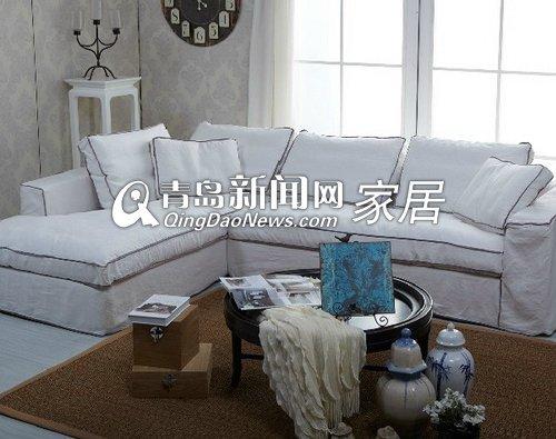 顾家家居休闲时尚棉麻全布艺沙发2368图片