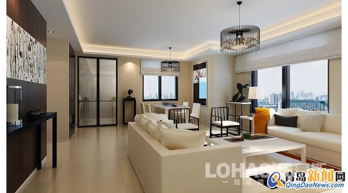 兩室兩廳85平方米住宅裝修案例效果圖254號