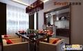 咨询电话 13969618616 咨询QQ1984825882 餐厅:有着优雅落地窗的餐厅 设计理念:本案用暗调表现格调,更多的强调空间的质感和华丽。 亮点:门厅和餐厅之间的隔断采用镂空雕花做分隔,延展了实现,整合了室内空间元素。