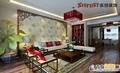 """咨询电话 13969618616 咨询QQ1984825882 客厅:中式魅力的客厅 设计理念:客厅是体现主题的灵魂所在,修身养性的场所。 亮点:翠竹、茶道、雕花、月亮门,刻意营造""""禅""""意,令人心境平和。"""