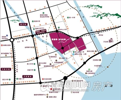银盛泰,星海城,区位图,人民路,青岛新闻网房产