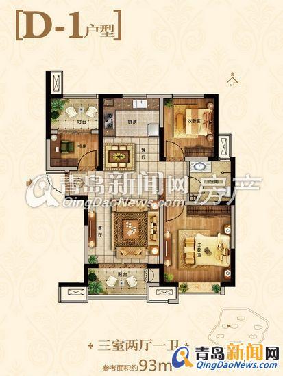 93平方米住宅装修招标书373号 预算半包5 7万 青岛新闻网家居装修高清图片