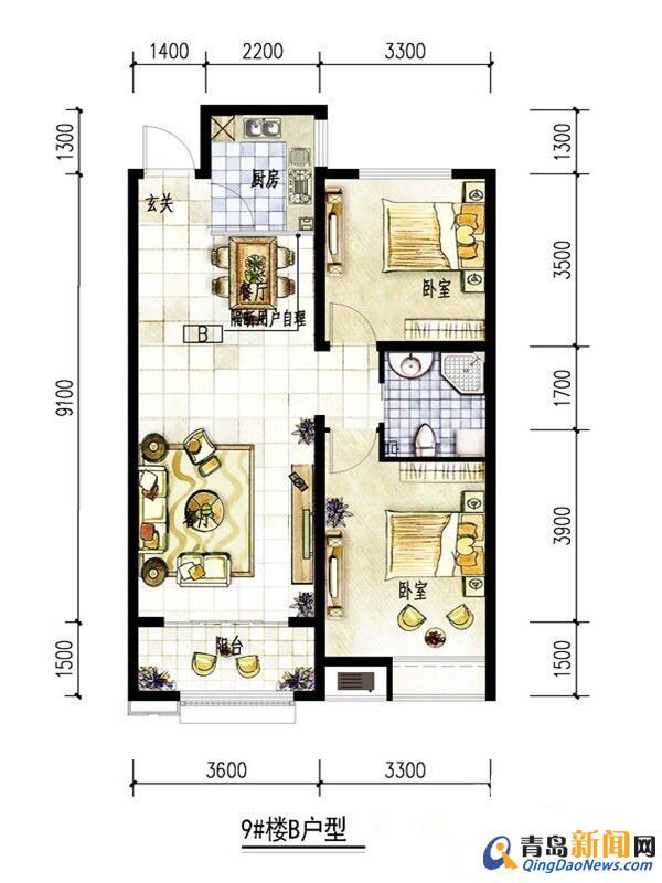 93平方米住宅装修招标书375号 预算半包3 5万 青岛新闻网家居装修高清图片