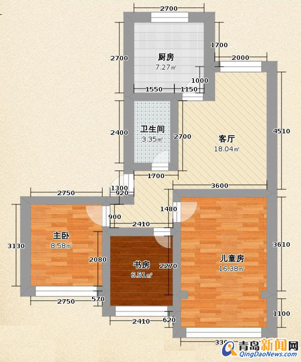 86平方米住宅装修招标书397号 预算半包3 5万 青岛新闻网家居装修高清图片
