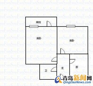 八大关风景区,武昌路,47平+阁楼