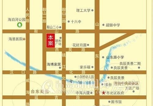 金玉良缘,区位图,青岛新闻网房产