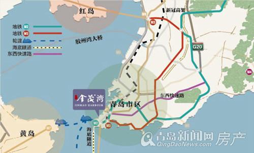"""位于青岛市南,坐落于""""一桥一隧""""市政"""