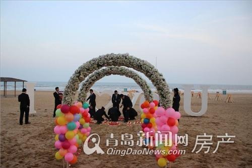 出团队为韦先生布置求婚现场-碧桂园十里金滩上演唯美求婚 270 山海