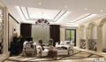 客厅方案二:同一个空间,完全用作客厅,拱形门洞增添新古典风情 设计说明:本案采用欧式新古典风格,本案设计无论是家具还是配饰均以其优雅、唯 美的姿态,平和而富有内涵的气韵,描绘出居室主人高雅、贵族之身份。 常见的壁炉、水晶宫灯、罗马古柱亦是新古典风格的点睛之笔。中西合璧, 使东方的内敛与西方的浪漫相融合,也别有一番尊贵的感觉。