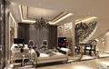 客厅方案一:餐厅部分除了做成封闭式空间,也可以成为开放式的,充分利用拐角楼梯空间  设计说明:本案采用欧式新古典风格,本案设计无论是家具还是配饰均以其优雅、唯 美的姿态,平和而富有内涵的气韵,描绘出居室主人高雅、贵族之身份。 常见的壁炉、水晶宫灯、罗马古柱亦是新古典风格的点睛之笔。中西合璧, 使东方的内敛与西方的浪漫相融合,也别有一番尊贵的感觉。