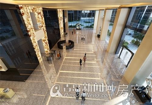 卓越世纪中心,11米挑空精装大堂,青岛新闻网房产