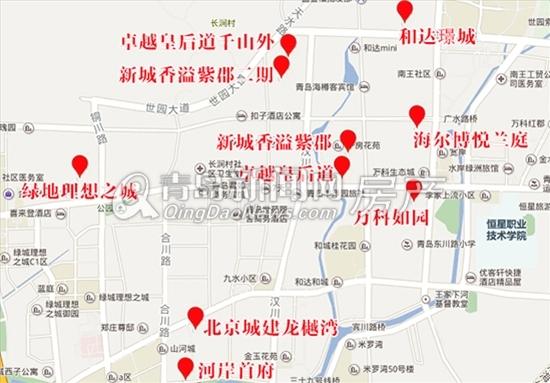 东李新盘分布图,东李房价,青岛新闻网房产