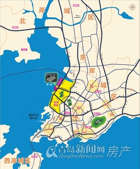 第一城,市北新盘,区位图,青岛新闻网房产