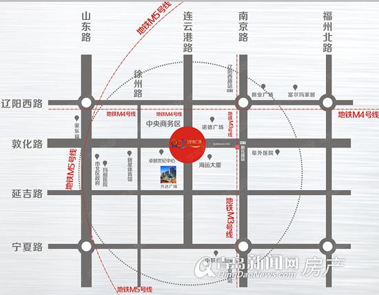 青岛中央广场,市北CBD,商铺,地铁M3,青岛新闻网