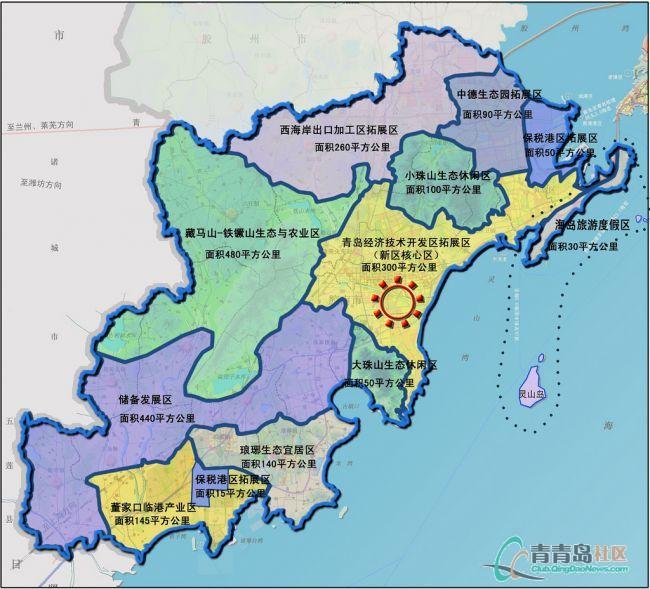 青岛西海岸新区规划图