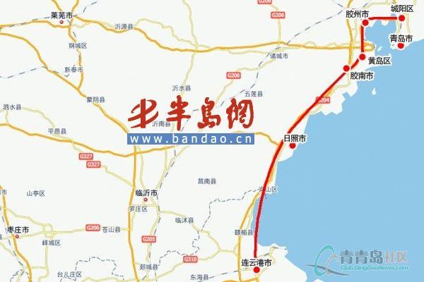 青岛到泰山地图