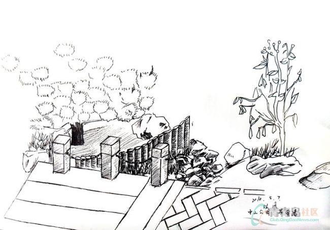 春季写生作品秀,风景速写/儿童风景画,不同年龄图片