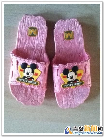 迪士尼/如图,迪士尼正品儿童拖鞋,一体成型的,M码,内长18CM