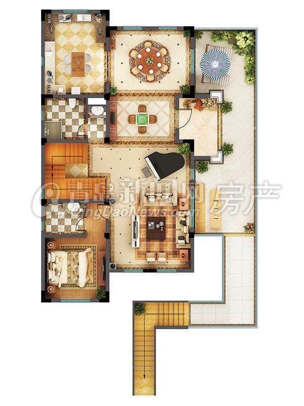 大溪谷別墅c戶型492.43平二層