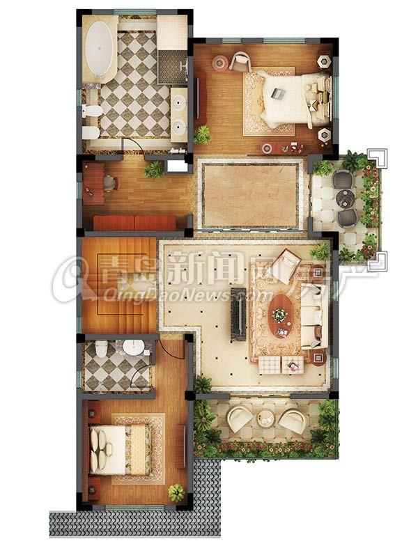 大溪谷別墅c戶型492.43平三層