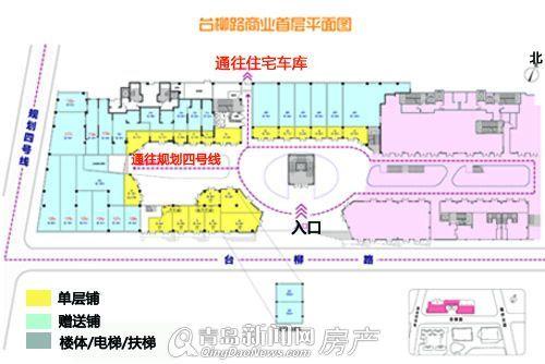 台柳路商业首层平面图 大图展示