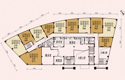 165平米商品房平面图