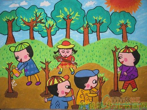 家乡的秋天儿童画