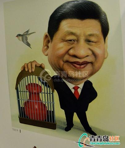 新中国五代领导人漫画像亮相女独臂漫画图片