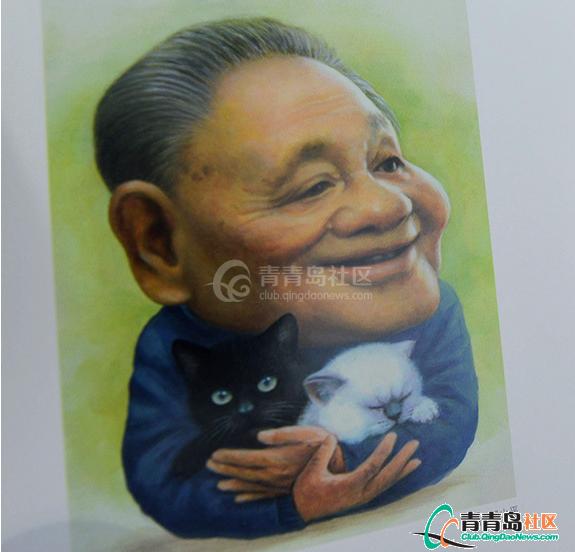 新中国五代领导人漫画像亮相胖漫画图片