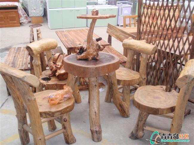 个性原生态实木桌椅