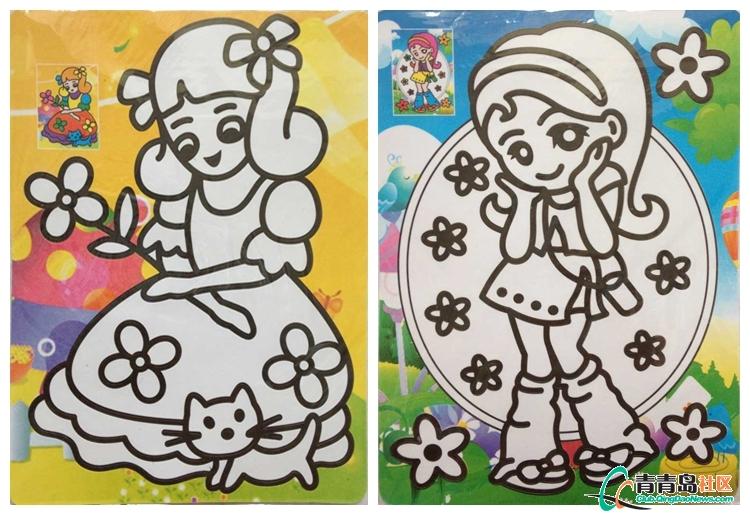 儿童沙画水彩画金粉画青岛市内自提