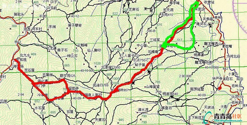 崂山 口风景区地图