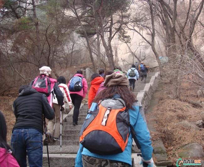 爬山活动过程。