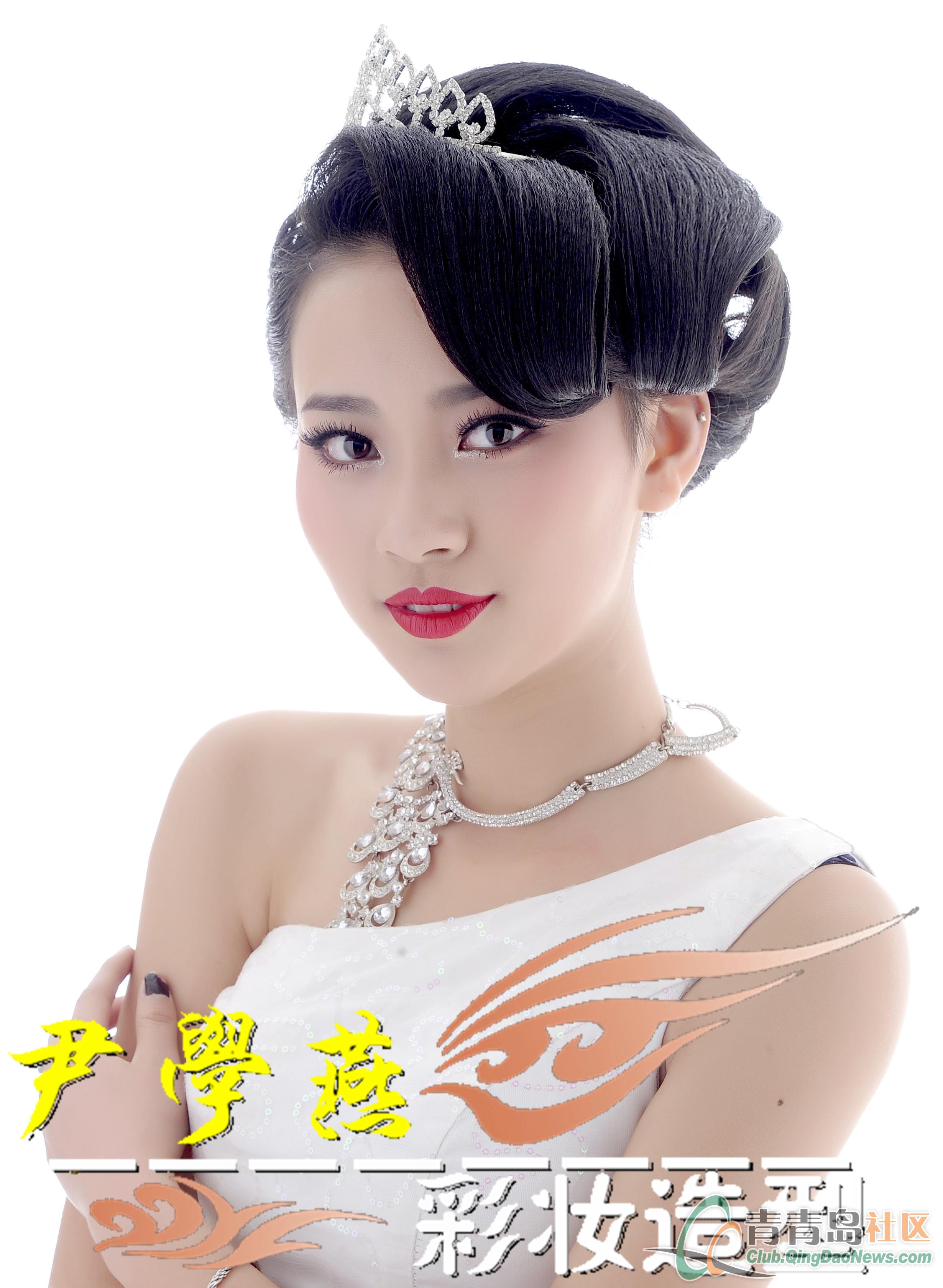发型设计 中式短发新娘婚纱造型 > 但是看惯了穿白婚纱的新娘子 特级