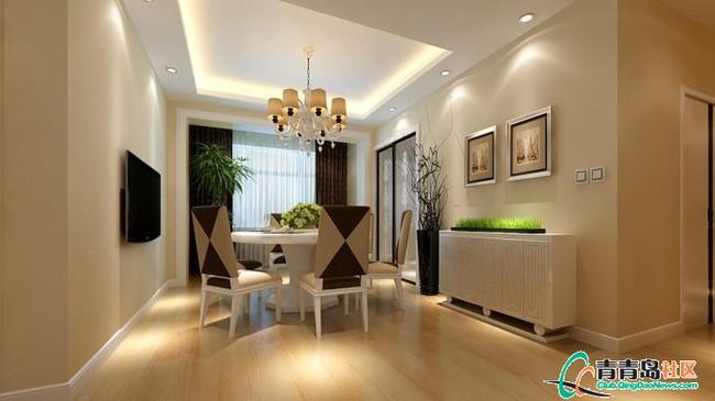8万装修正阳东郡122平现代简约三居室 实创效果图 高清图片